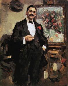 Portrait of aHungarianartistJózsefRipleyRonai, 1912 - Konstantin Korovin