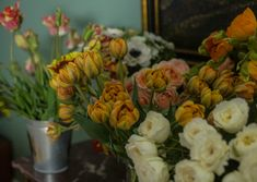 Flowers for the floral Masterclass  creating bouquets like on dutch oil paintings