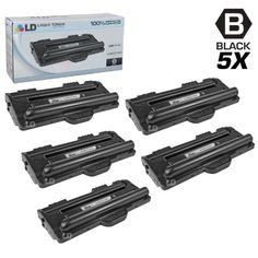 LD Compatible Samsung ML-1710D3 Black Laser Toner Cartridges (5 Pack) for ML 1500, 1510, 1510B, 1520, 1710, 1710B, 1710D, 1710P, 1740, 1750 & 1755