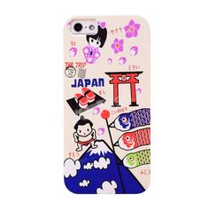 UMKU Japan Cartoon Tourism Sights Hard Case for iPhone 5s 5