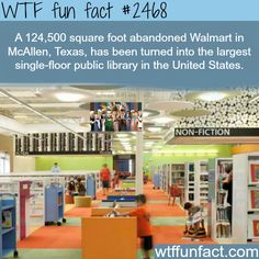 Abandoned Walmart in Texas turned into Library -WTF funfacts