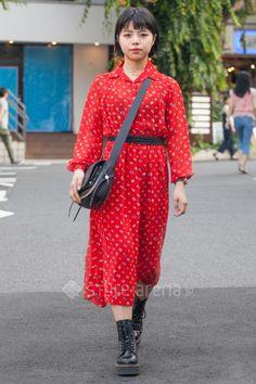 Megumi   vintage  handmade COACH Dr.Martens used   3rd week  Jul. 2017   Daikanyama   Tokyo Street Style   TOKYO STREET FASHION NEWS   style-arena.jp