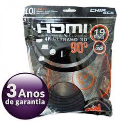 [Sub>Olist] Cabo HDMI 10 metros 90° - R$ 19,99