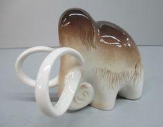 Vintage Lomonosov Porcelain Mammoth USSR Russia