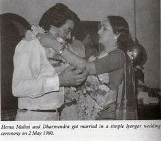 Hema Malini Dharmendra wedding photos