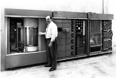 IBM's RAMAC 350, the world's first Random Access Magnetic Disk Drive the ancestor of the hard drive in your computer - with five million characters.