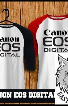 Raglan Canon eos digital tshirt online,kaos,polo,raglan,distro,sablon,coreldraw,photoshop