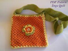 Crochet pattern - Flower bag for little girls Flower Patterns, Crochet Patterns, Pattern Flower, Bag Patterns, Crochet Flowers, Crochet Bags, Flower Bag, Unique Crochet, Handmade Bags