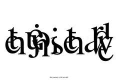 the gipher script - Giuseppe Furcolo's logoraphic writing system
