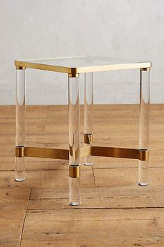 Anthropologie Oscarine Lucite End Table