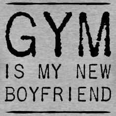 Gym is my new boyfriend t-shirt design