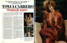 """""""Tônia Carrero - 30 anos de teatro"""" - reportagem na revista """"Manchete"""" de 1980 - página 1/2."""