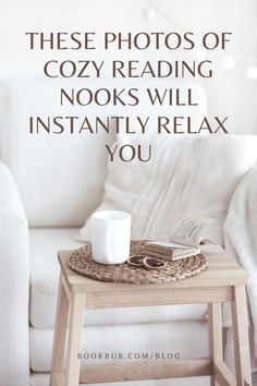 15 cozy reading nooks to inspire your home decor.   #books #nooks #reading Reading Nook Kids, Library Inspiration, Nook Ideas, Book Nooks, Bookshelves, Book Lovers, Writer, Decorating Ideas, Relax