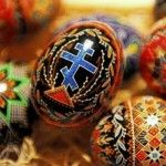 """What is Pysanky? Ukrainian Easter Eggs, traditionally made during Lent. The word comes from the verb pysaty, """"to write"""", as the designs are not painted on, but written with beeswax."""