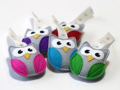 Cute handmade woolfelt owl ornament