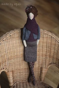 Custom OOAK Fabric Doll Made To Order by madebyagah on Etsy : Love!