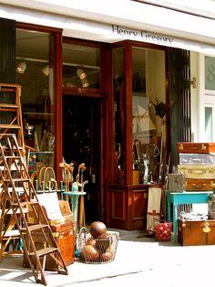 Henry Gregory antiques shop, London
