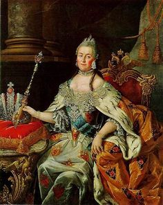 """Coronation Portrait of Catherine II """"the Great"""", Empress regnant of Russia"""