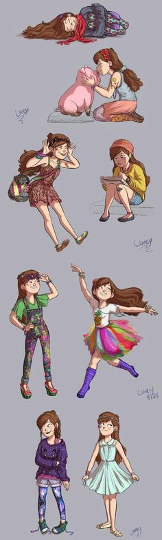 Mabel. I love all of them! Especially the one with galaxy leggings.