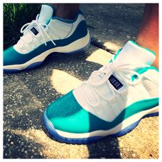 Jordan 11 lows turbo green