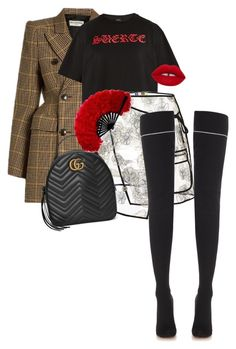 """""""Untitled #815"""" by nadaoutfits ❤ liked on Polyvore featuring Balenciaga, Marcelo Burlon, MSGM, Vetements and Gucci"""