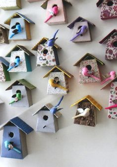 Birdhouses: Cute birdhouses from Tamar Mogendorff (@Luciana D'Andretta Wynne Pimentel is gonna love this!)