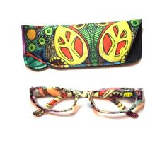 1.50 Reading Glasses With Case Retro Pattern