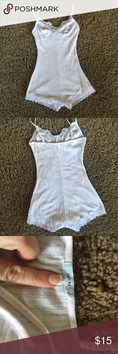 Free People Kimchi Blue Romper Slip Perfect for wearing underneath that sheer outfit or lounging around the house! Worn and washed but no stains or holes! Free People Intimates & Sleepwear