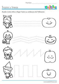 Ficha de #grafomotricidad para Halloween