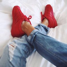 Red shell tops Adidas X Pharrell