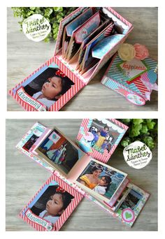 Creative n new style of album/ scrapbook. Mini Albums, Mini Album Scrapbook, Tarjetas Diy, Mini Album Tutorial, Mini Photo, Exploding Boxes, Album Book, Smash Book, Bookbinding