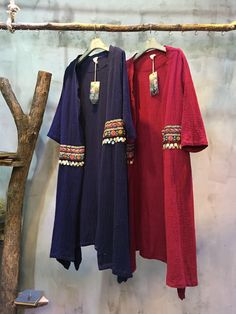 Folk Style Ethnic Embroidery Retro Cardigan Sequins Chinese Coat  #Chinese #vintage #retro #cardigan #blue #red #sequins #embroidery #ethnic #folk
