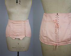 Jahrgang 1940er Jahre Stil Korsett / Korsett Vintage 1980er Jahre / Jahrgang Taille Cincher / Wespentaille Korsett / blass-rosa Korsett / Size groß / Größe XL