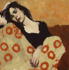 "*Milt Kobayashi, Japanese-American artist, b. New York ""Curled Up"" Painting People, Figure Painting, Painting & Drawing, Portraits, Portrait Art, Pencil Portrait, Milt Kobayashi, Kunst Online, Malcolm Liepke"