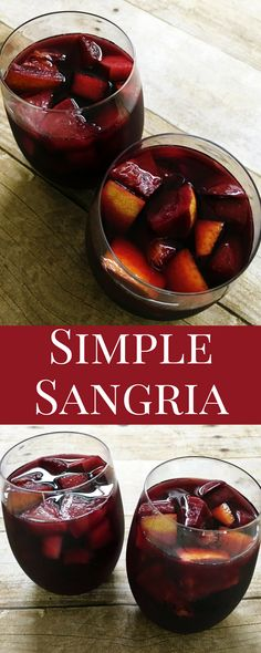 This is the *EASIEST* sangria recipe ever and possibly the most delicious. Perfect for any party or event. Wow your friends with this simple recipe.