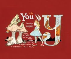 Y is for who are You 9x75 Wonderland Alphabet Print by JKLee, $6.50