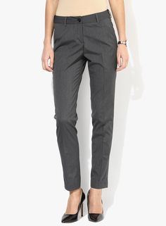 Buy Park Avenue Grey Solid Chinos for Women Online India, Best Prices, Reviews | PA830WA69KFEINDFAS