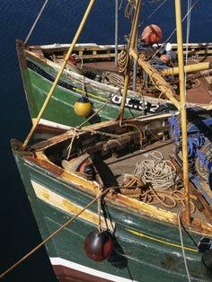 Fishing Boat Prows, Scotland