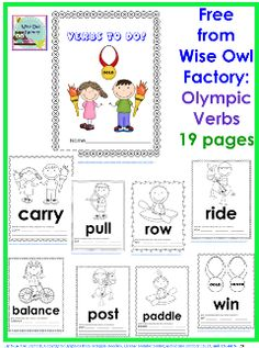 Crocheting Verb : Preschool- Olympics on Pinterest Winter Olympics, Olympic Games and ...