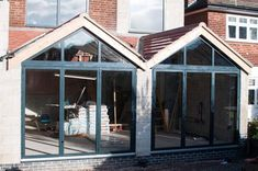 Sunflex SF75 aluminium bifolding doors just installed on site