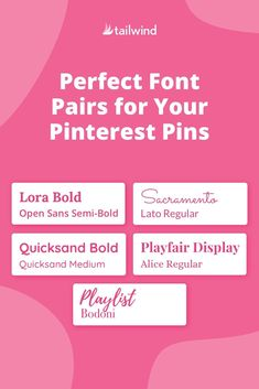 Drawing a blank when it comes to choosing the perfect fonts for your Pinterest Pins? Read our quick font pairing guide here! Pinterest Pin, Things To Come, Fonts, Pairs, Pinterest Marketing, Designer Fonts, Font Downloads, Script Fonts, Writing Fonts