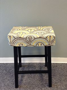 Fitted saddle stool seat cushion, rectangular cover, kitchen counterstool seat cover, washable home decor fabric, many fabrics available by BrittaLeighDesigns on Etsy