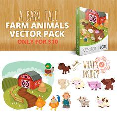 Farm Vector, Vector File, Cattle, Farm Animals, All Design, How To Draw Hands, Packing, Clip Art, Gado Gado