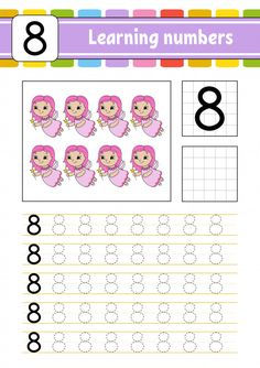 Trace and write. Toddler Learning Activities, Preschool Education, Homeschool Kindergarten, Free Preschool, Kindergarten Writing, Alphabet Activities, Preschool Activities, Teaching Kids, Free Printable Numbers