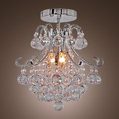 Max Flush Mount , Modern/Contemporary Electroplated Feature for Crystal / Mini Style Metal Living Room / Dining Room / Entry – GBP £ Ceiling Light Fixtures, Pendant Light Fixtures, Pendant Lamp, Ceiling Lights, Metal Ceiling, Ceiling Fans, Cheap Chandelier, Metal Chandelier, Chandelier Lighting