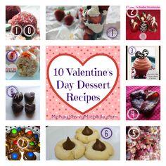 10 Valentine's Day Dessert Recipes #ValentinesDay #recipes