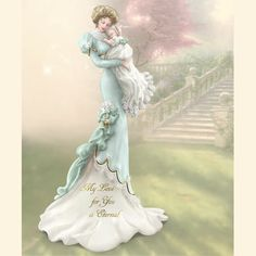 Thomas Kinkade Figurines Collection | ... Thomas Kinkade My Love For You is Eternal Mother and Child Figurine