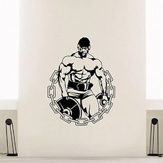 Wall Decal Vinyl Sticker Sport Gym Fitness Body-building Bodybuilder Decor Sb366 ElegantWallDecals http://www.amazon.com/dp/B011RXTIYM/ref=cm_sw_r_pi_dp_w8jYvb0V6AQKG