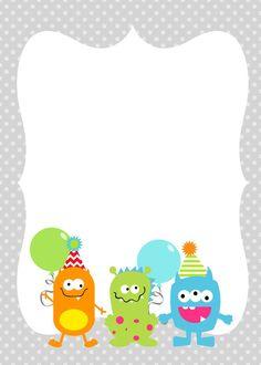 ideia de convite                                                                                                                                                                                 Mais Little Monster Party, Monster Birthday Parties, 1st Boy Birthday, Festa Hotel Transylvania, Halloween Birthday, Halloween Stuff, Halloween Halloween, Halloween Treats, Halloween Makeup