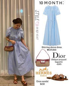 Dior Dress, Hermes Paris, Kpop Fashion, Latina, Red Velvet, Shirt Dress, Simple, Girls, Sleeves